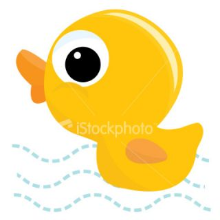 Cute little Rubber Ducky Royalty Free Stock Vector Art Illustration