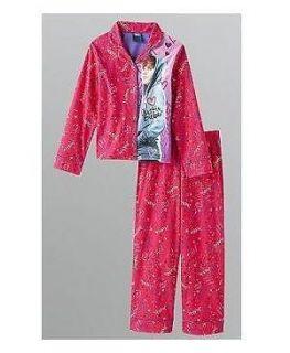 Justin BIEBER I LOVE Shirt & Pants PAJAMAS Pjs 8/10 NeW 2 piece Button