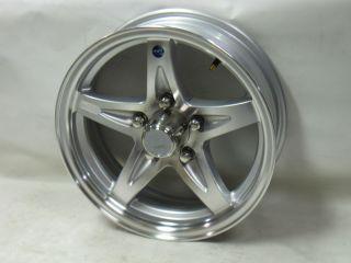 15 5 Lug on 4.5 Bolt Circle LH1 Silver Hi Spec Aluminum Trailer