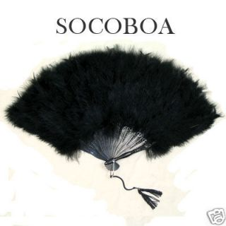 Nice LARGE Black Feather Fan Costume Halloween Party Gothic dance
