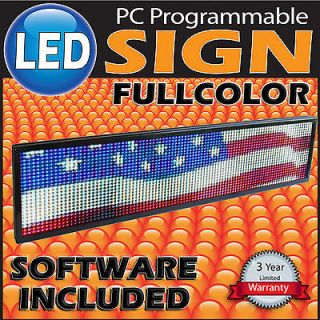 Newly listed LED Sign Programmable Message Board FULL COLOR Outdoor or