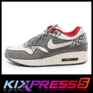 Nike WMNS Air Max 1 [319986 099] NSW Running Leopard Pack Charcoal
