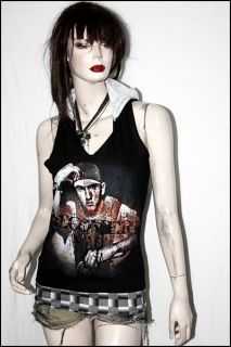 Eminem Heavy Metal Rock DIY Racerback Summer Vest Hoodie Top S/M