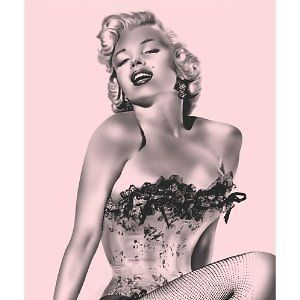 Brand New Marilyn Monroe Pink Fishnet Queen Size Blanket 79x95