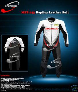 Honda Motorcycle Motorbike Racing Leather Suit MST 143 (US 44,46,48