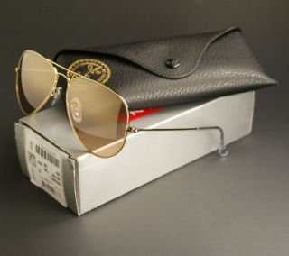 NEW RAY BAN AVIATOR SUNGLASSES GOLD FRAME w/PINK MIRROR LENS RB3025