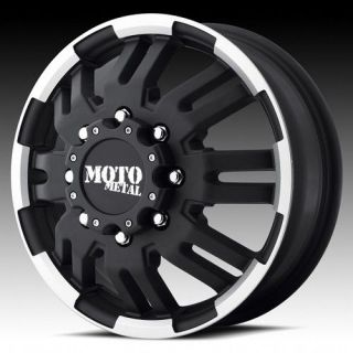 17 inch moto metal black dually wheels rims 8x200 2005 ^ ford f 350