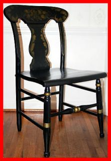 Vintage Drexel Furniture Hand Painted Colonial Side Chair Hitchcock