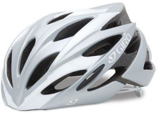 Giro Savant White/Silver Cycling Helmet Road Triathlon New