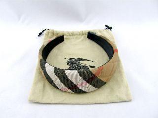 245 BURBERRY London Trench Plaid Nova Check Women's Headband