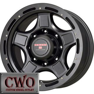 16 Black Level 8 ZX Wheels Rims 5x114.3 5 Lug Jeep Wrangler Ranger