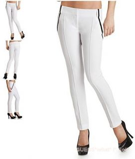 NWT $158 MARCIANO GUESS Carron Skinny Pant Dress Trousers White w