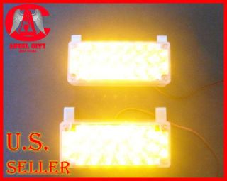 2x22 LED Snow Plow Truck Strobe Emergency Lights 3 mode Amber
