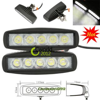 2pcs Black 15W LED Off road Slim Work Light Lamp 12V/24V Car Truck SUV