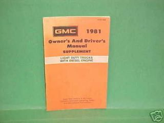 1981 gmc light duty truck diesel engine owners manual time