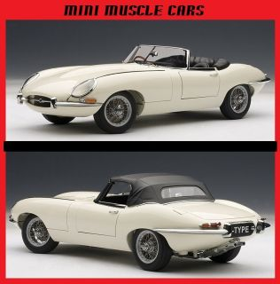 AUTOART 73603 118 CREAM JAGUAR E TYPE ROADSTER SERIES I 3.8 DIECAST