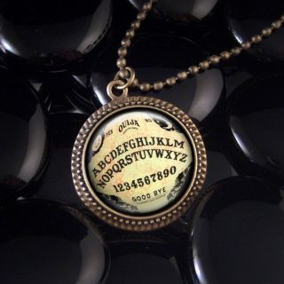 antique ouija board bronze frame pendant necklace 415rf time left