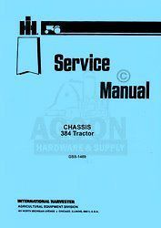 international 384 tractor chassis service manual 1489 time left $