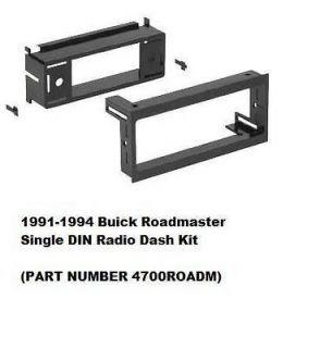 1991 1992 1993 1994 Buick Roadmaster Single DIN Radio Dash Install Kit