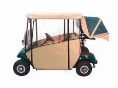 GOLF CART 3 SIDED TXT CUSTOM FIT OVER THE TOP ENCLOSURE Black $298.00