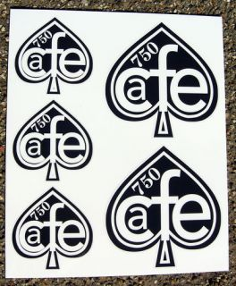 cafe racer ace of spades logo 750 stickers decals honda