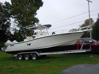 MAKO 284 CENTER CONSOLE SPORT FISHING BOAT W/TRAILER   LOADED   TUNA