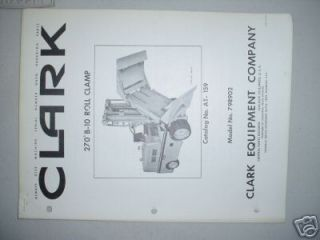 clark 270 deg roll clamp fork lift attachment manual time