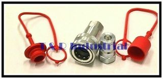iso b hydraulic quick couplers w dust cap