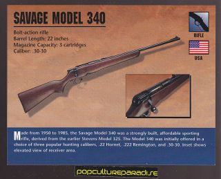 SAVAGE MODEL 340 BOLT ACTION RIFLE .30 30 Atlas Classic Firearms Gun