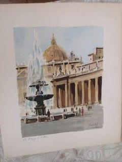 Newly listed Herbelot Watercolor Lithographs Signed & Numbered