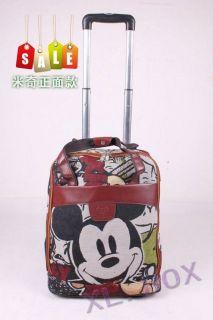 Disney Mickey Mouse Canavas Luggage Bag Trolley Roller handbag 17