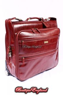 Ashwood WHEELED SUIT CARRIER Cognac Real Leather Travel Luggage Bag