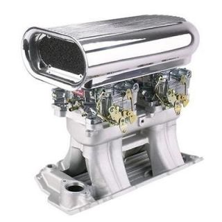 New SBC Chevy Street Tunnel Ram Kit w/ Edelbrock Manifold/Carbs