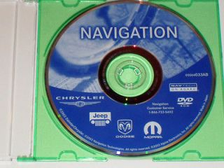 CHRYSLER DODGE JEEP NAVIGATION DISC DVD CD 033AB NAV MAP DISK GPS