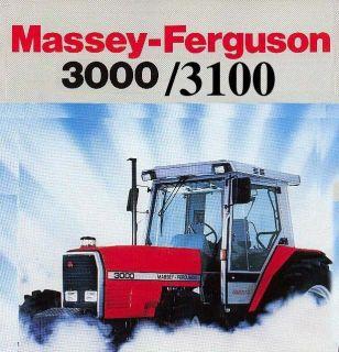 MASSEY FERGUSON TRACTORS SERVICE OPERATORS MANUAL 3080 3095 3115 3120