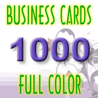 1,000 CUSTOM 14PT THICK 2 x 3.5 BUSINESS CARDS 2x3.5 BOTH SIDES GLOSS