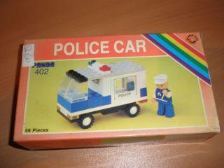 80S VINTAGE GREEK ITALOCREMONA LEGO PANDA POLICE CAR 402 MIB