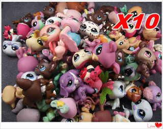 Lot 10 pcs Littlest Pet Shop LPS Animals Loose Figures toy DH48