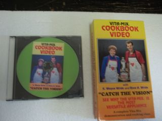 VITA MIX ORIGINAL 2 HOUR VHS DEMO/COOKBOOK CATCH THE VISION