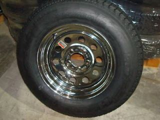 Newly listed (4)15 CHROME TIRE AND WHEEL BOAT,HORSE TRAILER PARTS