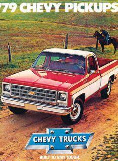 1979 chevrolet chevy truck silverado sales brochure