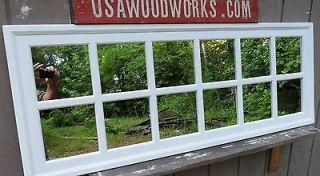window multi pane rectangular mirror white 56 x 22 usawoodworks