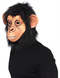 Overhead Monkey Chimp Ape Mask Fancy Dress Animal Chimpanzee