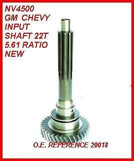 NV4500 5 SPEED MANUAL TRANSMISSION INPUT SHAFT 22T 5.61 RATIO NEW