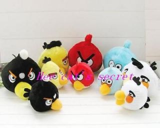 Newly listed One Bulk of 6PCS of angry funny Birds Space Plush,factory