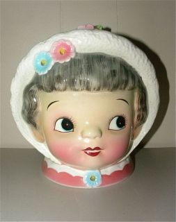 Vintage DAINTY MISS ESD Lefton GRAY HAIRED LADY Cookie Jar #7548