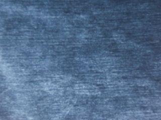 yards ROYAL BLUE COTTON VELVET DRAPERY UPHOLSTERY FABRIC 58