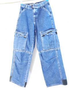 LEVIS SILVER TAB Boys Size 14 Baggy Hip Hop Denim Blue Jeans Rap