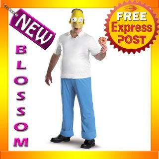 C461 Mens The Simpsons   Homer Simpson Deluxe Cartoon Character Adult