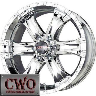 18 Chrome Chaos 6 Wheels Rims 6x139.7 6 Lug Titan Tundra GMC Chevy